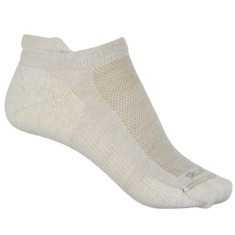 Point6 37.5® Sport Dash Micro Socks - Merino Wool, Below the Ankle (For Women) in White