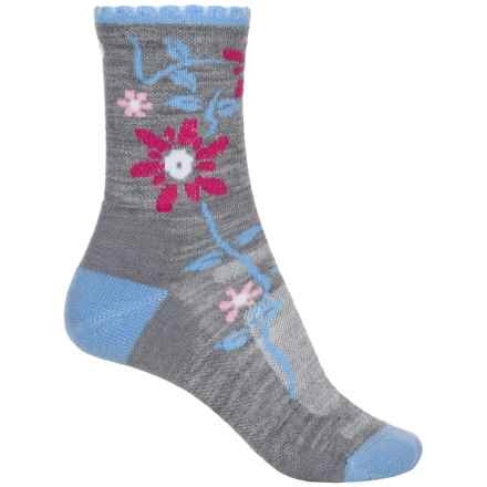 Point6 Active Life Bloom Extra-Light Socks - Merino Wool, 3/4 Crew (For Women) in Stone - Closeouts