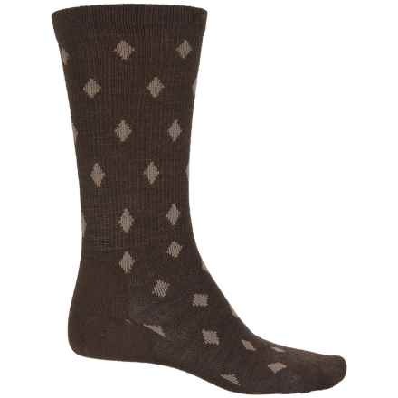 Point6 Active Life Diamonds Socks - Merino Wool, Crew (For Men) in Chestnut - Closeouts
