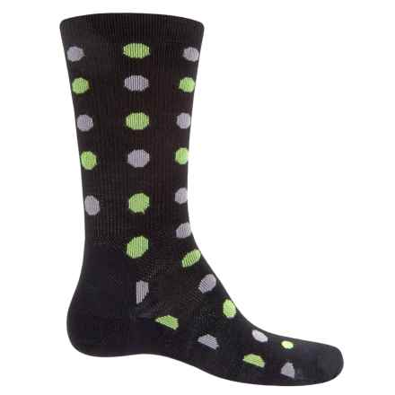 Point6 Active Life Spots Ultralight Socks - Merino Wool, Crew (For Men) in Black - Closeouts