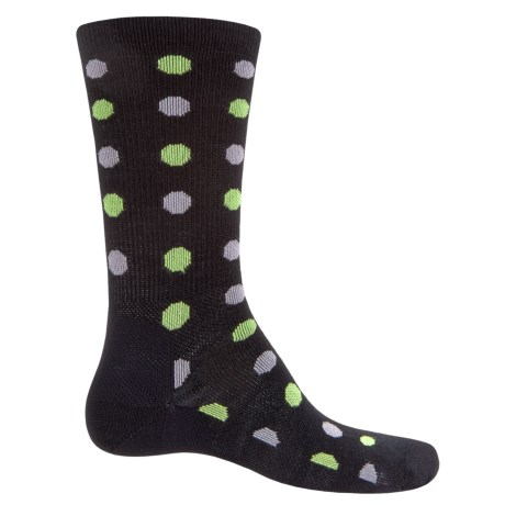 Point6 Active Life Spots Ultralight Socks - Merino Wool, Crew (For Men) in Black