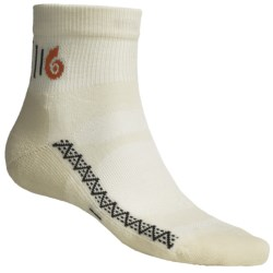 Point6 Active Light Ankle Socks - Merino Wool (For Men and Women) in Taupe