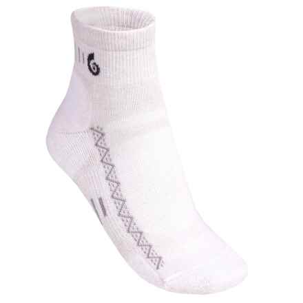 Point6 Active Light Ankle Socks - Merino Wool (For Men and Women) in White - 2nds