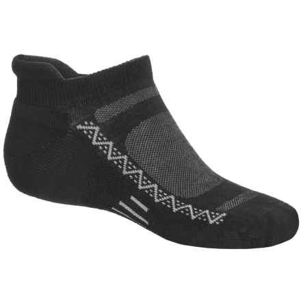 Point6 Active Light Micro Socks - Merino Wool, Below-the-Ankle (For Men and Women) in Black - Closeouts