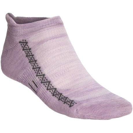 Point6 Active Light Micro Socks - Merino Wool, Below-the-Ankle (For Men and Women) in Lavender