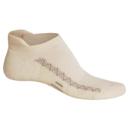 Point6 Active Light Micro Socks - Merino Wool, Below the Ankle (For Men and Women) in White - Closeouts