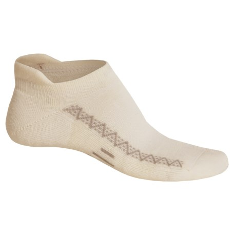 Point6 Active Light Micro Socks - Merino Wool, Below the Ankle (For Women) in White