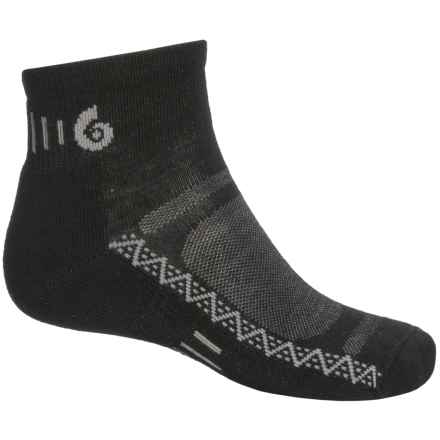 Point6 Active Light Socks - Merino Wool, Ankle (For Men and Women) in Black - 2nds
