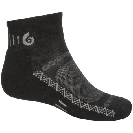 Point6 Active Light Socks - Merino Wool, Ankle (For Men and Women) in Black