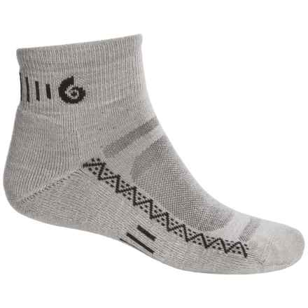 Point6 Active Light Socks - Merino Wool, Ankle (For Men and Women) in Silver - 2nds