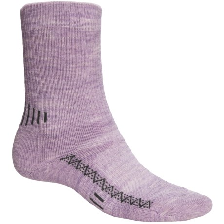 Point6 Active Medium-Cushion Crew Socks - Merino Wool, Midweight (For Men and Women) in Lavender