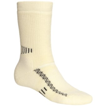 Point6 Active Medium-Cushion Crew Socks - Merino Wool, Midweight (For Men and Women) in Natural