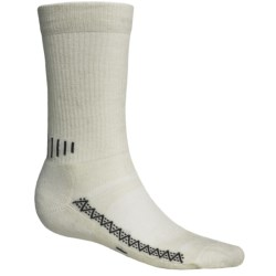 Point6 Active Socks - Merino Wool, Crew (For Men and Women) in Natural
