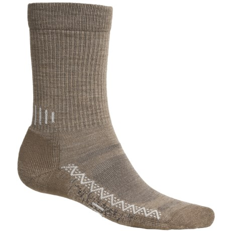 Point6 Active Socks - Merino Wool, Crew (For Men and Women) in Taupe