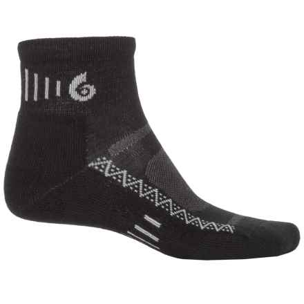 Point6 Active Socks - Merino Wool, Quarter Crew (For Men and Women) in Black - Closeouts