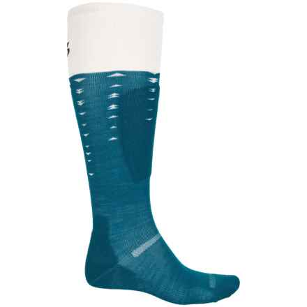 Point6 Arrow Ski Socks - Merino Wool, Over the Calf (For Men and Women) in Deep Teal - Closeouts