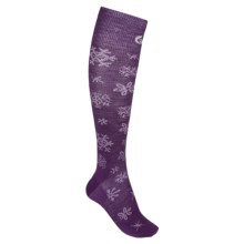 Point6 Blizzard Ultralight Ski Socks - Merino Wool, Over the Calf (For Men and Women) in Imperial/White - 2nds