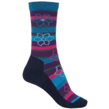 Point6 Bolivian Stripe Socks - Merino Wool, 3/4 Crew (For Women) in Dark Navy - 2nds