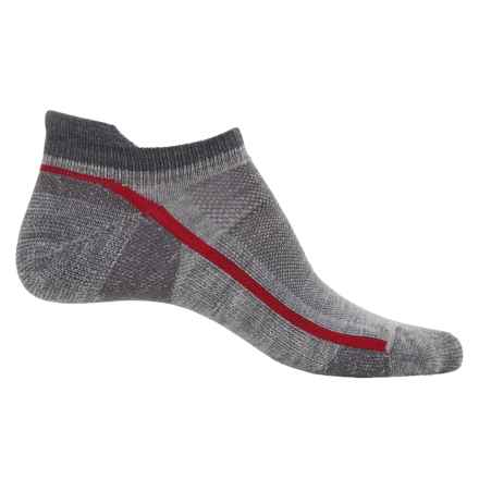 Point6 Breeze 1173 Micro Running Socks - Merino Wool, Below the Ankle (For Men and Women) in Stone - Closeouts