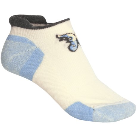 Point6 Butterfly Socks - Merino Wool Blend, Below the Ankle (For Women) in Natural/Sky