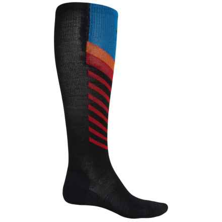 Point6 Compression Marathon Extra Light Socks - Merino Wool, Over the Calf (For Men and Women) in Black - 2nds