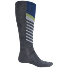 Point6 Compression Marathon Extra Light Socks - Merino Wool, Over the Calf (For Men and Women) in Gray - 2nds