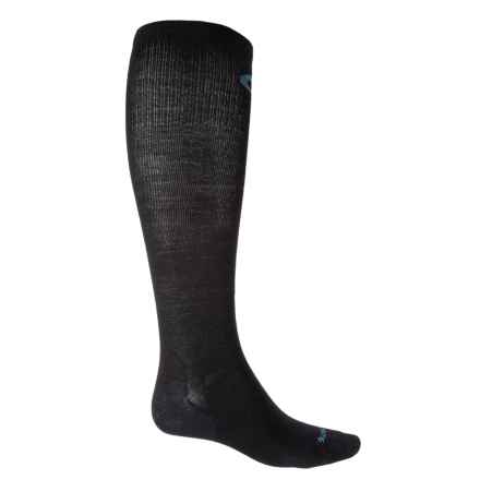 Point6 Compression Ultralight Socks - Merino Wool, Over the Calf (For Men and Women) in Black - Closeouts