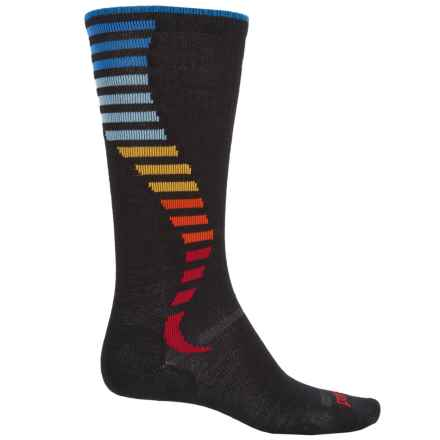 Point6 Compression Wave Ultralight Socks - Merino Wool, Over the Calf (For Men and Women) in Black - Closeouts