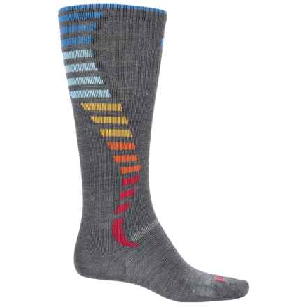 Point6 Compression Wave Ultralight Socks - Merino Wool, Over the Calf (For Men and Women) in Gray - Closeouts