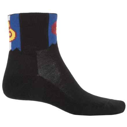 Point6 Coolrado Cycling Socks - Merino Wool, Quarter Crew (For Men and Women) in Black - Closeouts