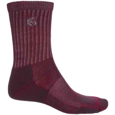 Point6 Core Hiking Socks - Merino Wool, Crew (For Men and Women) in Crimson - Closeouts