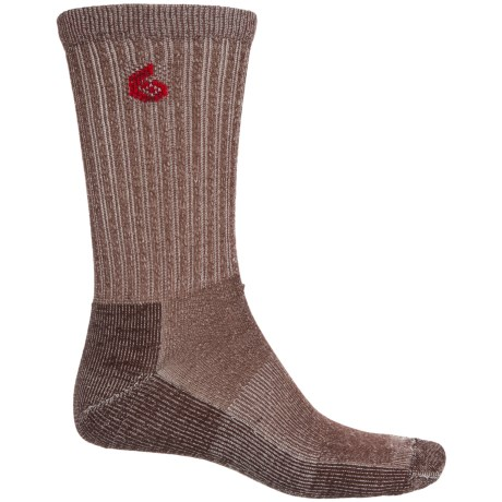 Point6 Core Hiking Socks - Merino Wool, Crew (For Men and Women) in Earth
