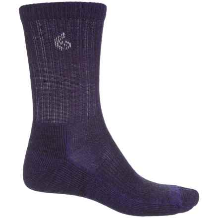 Point6 Core Hiking Socks - Merino Wool, Crew (For Men and Women) in Purple - Closeouts