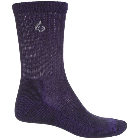 Point6 Core Hiking Socks - Merino Wool, Crew (For Men and Women) in Purple