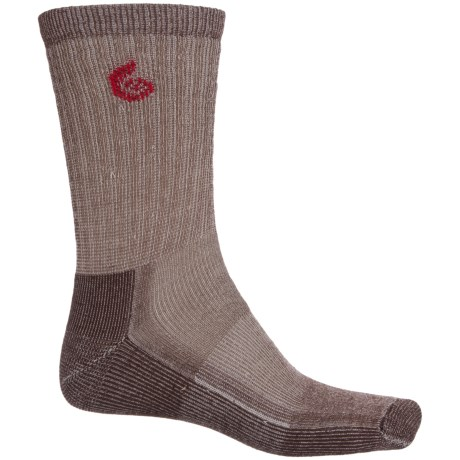 Point6 Core Midweight Hiking Socks - Merino Wool, Crew (For Men and Women) in Earth