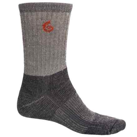 Point6 Core Midweight Hiking Socks - Merino Wool, Crew (For Men and Women) in Gray - Closeouts