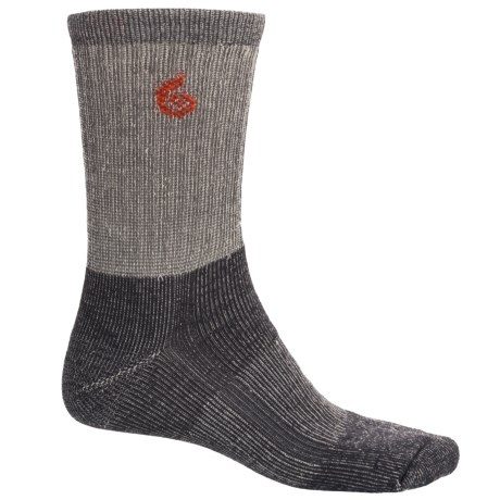 Point6 Core Midweight Hiking Socks - Merino Wool, Crew (For Men and Women) in Gray