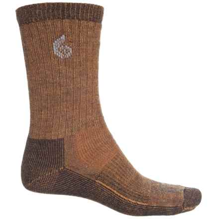 Point6 Core Midweight Hiking Socks - Merino Wool, Crew (For Men and Women) in Melon - Closeouts
