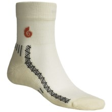 Point6 Cycling Light Socks - Merino Wool, Quarter-Crew (For Men and Women) in Natural - 2nds