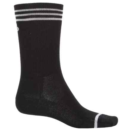 Point6 Cycling Piston Ultralight Socks - Merino Wool, Crew (For Men and Women) in Black - Closeouts