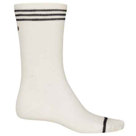 Point6 Cycling Piston Ultralight Socks - Merino Wool, Crew (For Men and Women) in White - Closeouts