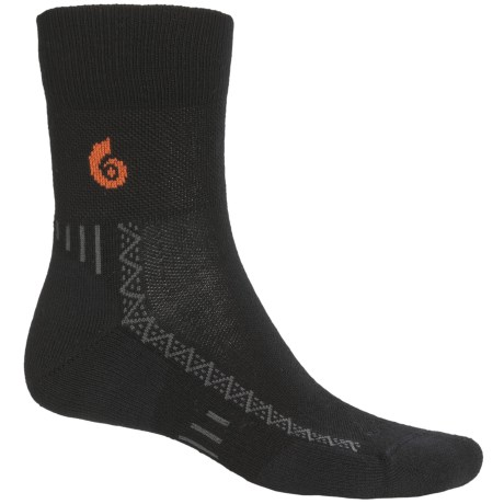 Point6 Cycling Ultralight Socks - Merino Wool, 3/4-Crew (For Men and Women) in Black