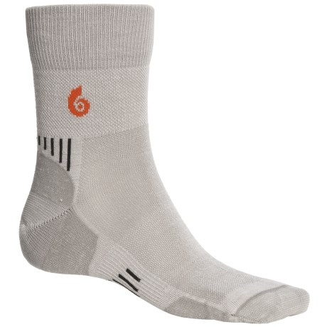 Point6 Cycling Ultralight Socks - Merino Wool, 3/4-Crew (For Men and Women) in Silver
