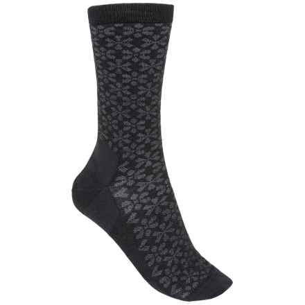 Point6 Daisy Chain Socks - Merino Wool, 3/4 Crew (For Women) in Black/Gray - 2nds