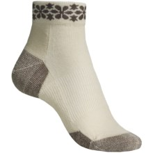 Point6 Daisy Row Socks - Merino Wool, Ankle (For Women) in Taupe - 2nds