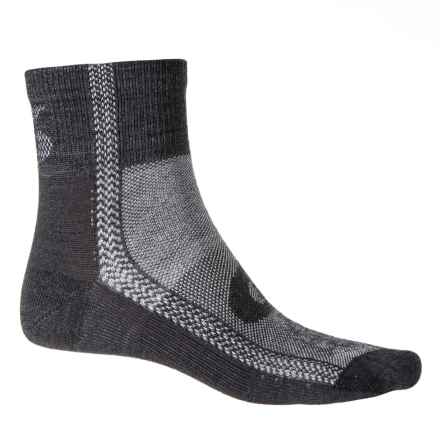 Point6 Duster Ultralight Mini Cycling Socks - Merino Wool, Ankle (For Men and Women) in Gray/White - Closeouts
