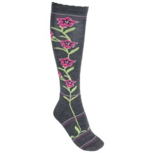 Point6 Enzian Medium Cushion Ski Socks - Merino Wool, Over the Calf (For Men and Women) in Grey - Closeouts