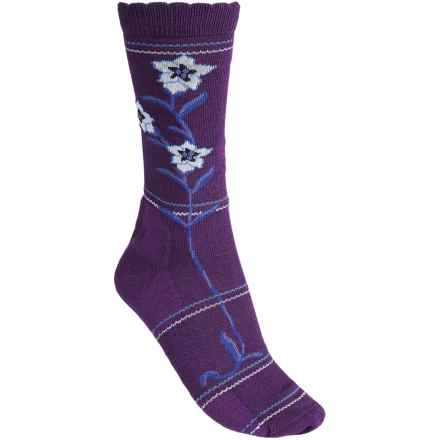 Point6 Enzian Socks - Merino Wool, 3/4 Crew (For Women) in Imperial - 2nds