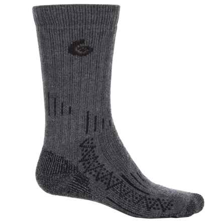 Point6 Expedition Tech Socks - Merino Wool, Mid Calf (For Men and Women) in Gray - Closeouts