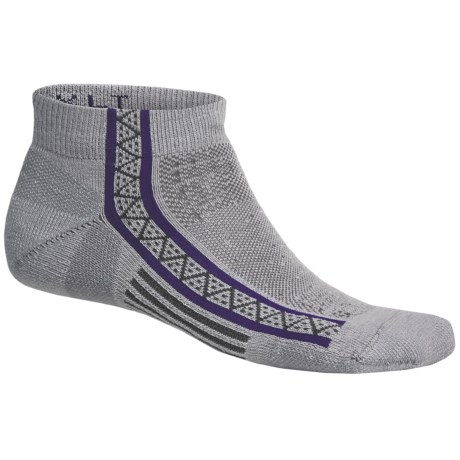 Point6 Extra Light Running Socks - Merino Wool, Ankle (For Men and Women) in White/Blue